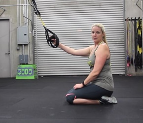 TRX Kneeling Quad Stretch